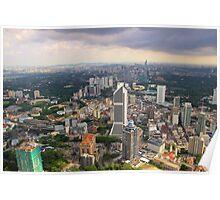 Cityscape IV - Kuala Lumpur, Malaysia. Poster