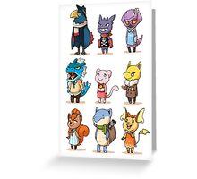 animal crossing crossover pokemon Greeting Card