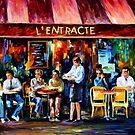 Cafe In Paris — Buy Now Link - www.etsy.com/listing/209805861 by Leonid  Afremov