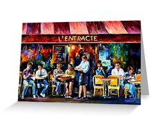 Cafe In Paris — Buy Now Link - www.etsy.com/listing/209805861 Greeting Card