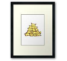 many pikachus Framed Print