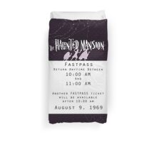Haunted Mansion Fastpass Duvet Cover