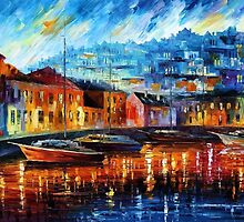 Blue Harbor — Buy Now Link - www.etsy.com/listing/209819921 by Leonid  Afremov