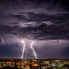 Night Clouds and Lightning by robcaddy