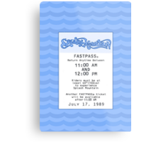 Splash Mountain Fastpass Metal Print