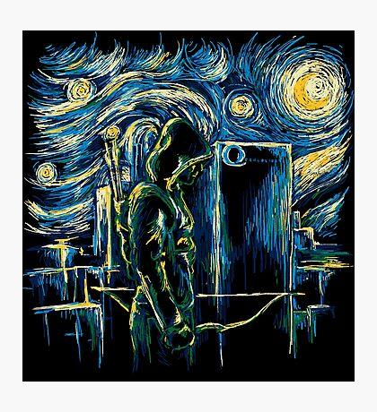 Starling Night (Arrow & Van Gogh) Photographic Print