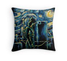 Starling Night (Arrow & Van Gogh) Throw Pillow