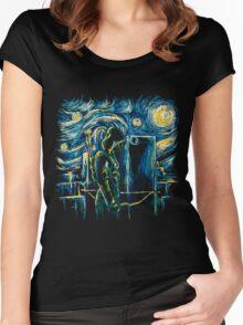 Starling Night (Arrow & Van Gogh) Women's Fitted Scoop T-Shirt