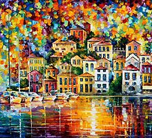 Dream Harbor — Buy Now Link - www.etsy.com/listing/129012629 by Leonid  Afremov