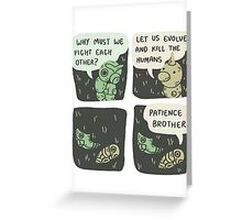 caterpie and weedle lol conversation Greeting Card