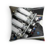 Racing Car Engine Throw Pillow