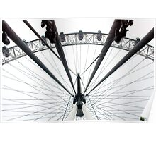 Spokes and Cables of the London Eye Poster