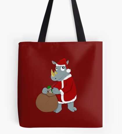 Christmas Rhinoceros  Tote Bag