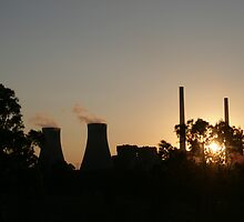 Sunset at Newcastle Powerstation by bluenova88