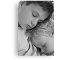 they're lovely when they're asleep! Canvas Print