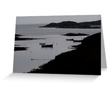 Bay in Silhouette Greeting Card