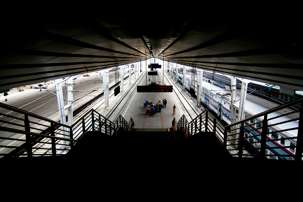 Beijing Train Station by Edward Hor