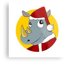 Christmas Rhinoceros  Metal Print