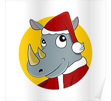 Christmas Rhinoceros  Poster