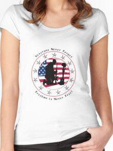 Never Forget 1.0 Women's Fitted Scoop T-Shirt