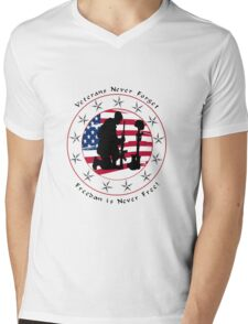 Never Forget 1.0 Mens V-Neck T-Shirt