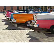 Cuban Taxis Photographic Print
