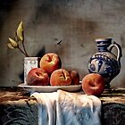 Still Life with Peaches by Glasseye