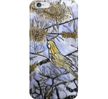 Morning Song in Blue/Yellow iPhone Case/Skin