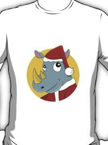 Christmas Rhinoceros  T-Shirt