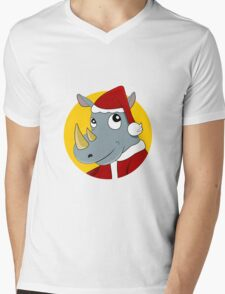 Christmas Rhinoceros  Mens V-Neck T-Shirt