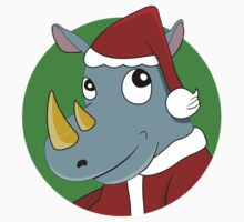 Christmas Rhinoceros  Kids Tee