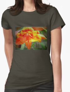 Merry amaryllis Womens Fitted T-Shirt