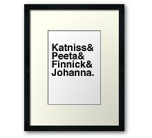 Katniss & Peeta & Finnick & Johanna. Framed Print