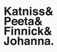 Katniss & Peeta & Finnick & Johanna. by Samantha Weldon