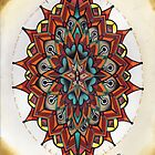mandorla, mandala drawing by resonanteye