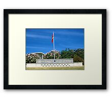 Memorial at the Officer Cadet School, Portsea Framed Print