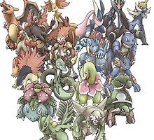 all starters pokemons cool design by pokemonlover89