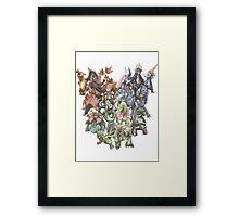 all starters pokemons cool design Framed Print