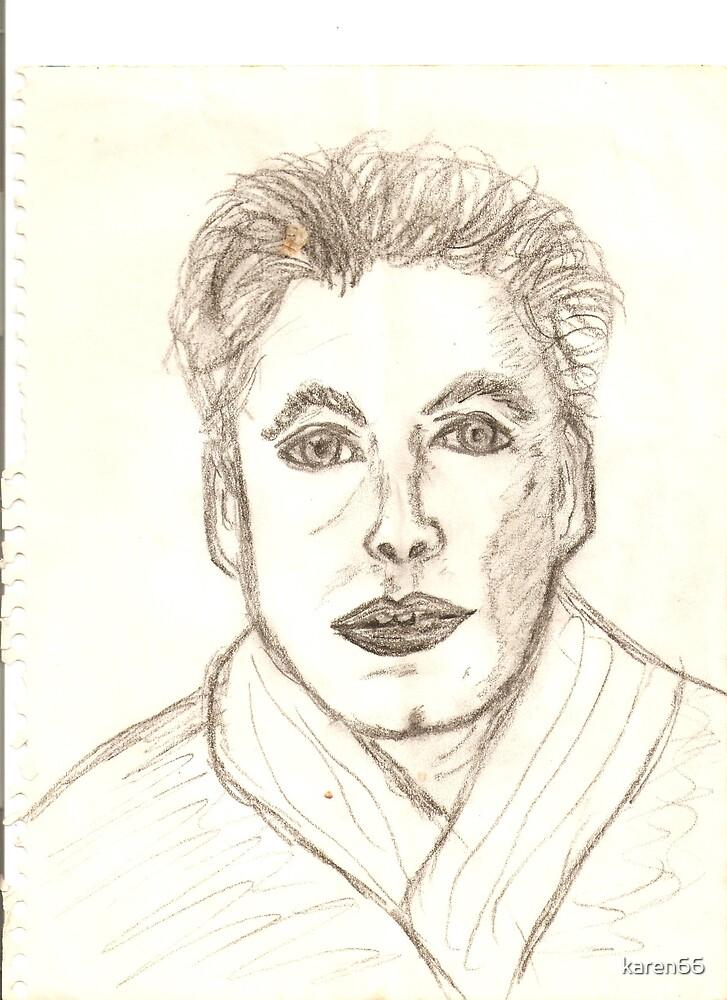 Portrait of Ken Drawing by karen66
