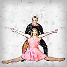 Couple ball room dancers On white Background by PhotoStock-Isra