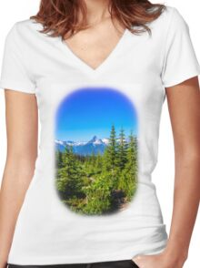 Rocky mountain  Meadows Women's Fitted V-Neck T-Shirt