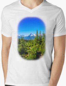 Rocky mountain  Meadows Mens V-Neck T-Shirt