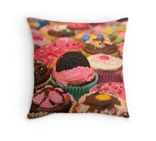 Cupcake Rainbow Throw Pillow