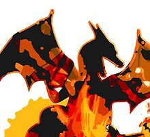 Pokemon - Charizard red fire - White Version by Domadraghi
