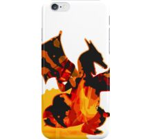 Pokemon - Charizard red fire - White Version iPhone Case/Skin