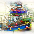 Boats as a Painting by Anthony Hedger Photography