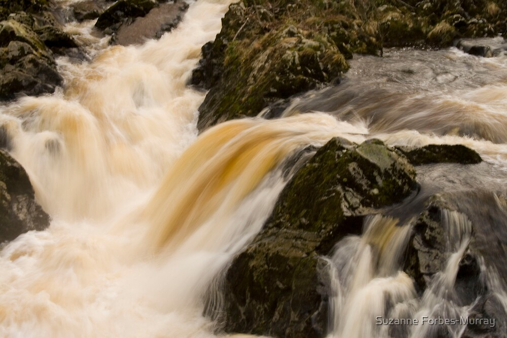 Water cascading over rocks by Suzanne Forbes-Murray