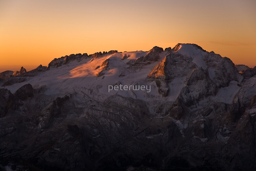Marmolada at sunrise by peterwey