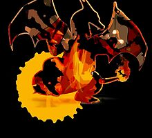 Pokemon - Charizard red fire - Black Version by Domadraghi