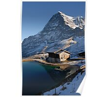 Eiger north face with small lake. Poster